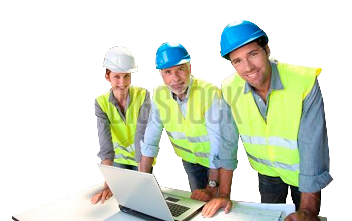 workers planning cladding project
